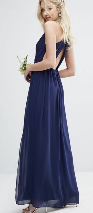 TFNC Navy Blue Maxi Dress with Back Cutout (Size 10) for Sale in Sterling, VA