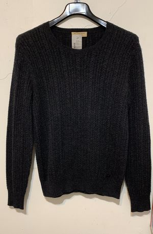 NWT Burberry London Logo Cashmere Sweater Crew Neck Jackets Charcoal Size M $695 for Sale in Los Angeles, CA