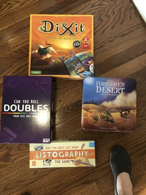 4 brand/like new board games for Sale in Washington, DC