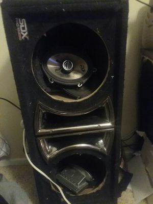 "SDX pro audio duel 10"" double vented box for Sale in Indio, CA"