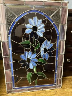 antique window leader decorative glass for Sale in Los Angeles,  CA