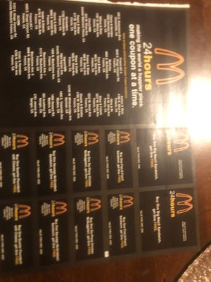 McDonalds coupons for Sale in Fresno, CA