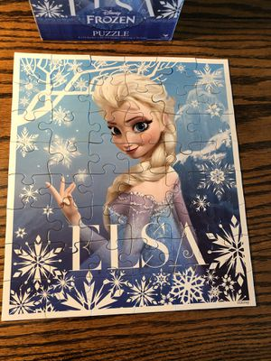 Disney Frozen Princess Elsa jigsaw puzzle- fun for children and family game night! for Sale in Phoenix, AZ