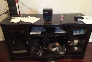 TV stand with glass doors for Sale in Rockville, MD