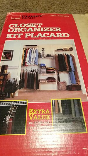 closet organizer kit placard for Sale in Upland, CA