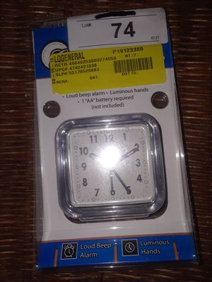 New Battery Operated Travel Alarm Clock for Sale in Pasadena, TX