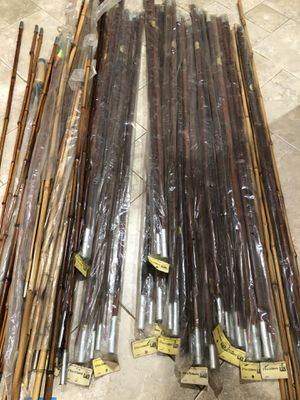 Over 20 sets of vintage antique Cane bamboo fishing poles for Sale in Boca Raton, FL