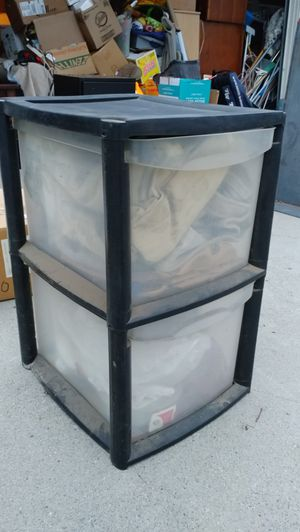 Two drawer plastic container for Sale in Ontario, CA
