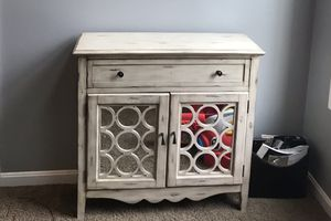Distressed off white/cream cabinet for Sale in Moon, PA