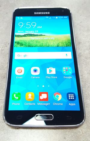 Verizon Samsung Galaxy S5 16gb Black Android Smart Cell Phone for Sale in Vancouver, WA