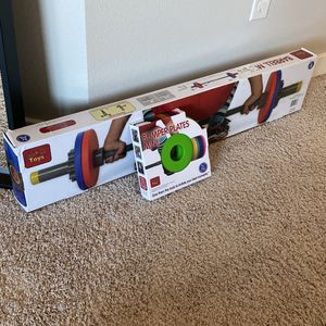 Bumper and Barbell Set For Kids for Sale in Beaverton, OR