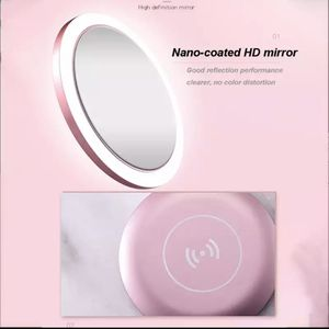 Portable Lighted Makeup Mirror with Wireless Charger for IOS and Android Phone for Sale in Gallatin, TN
