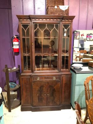 Mahogany break front China cabinet for Sale in Frederick, MD