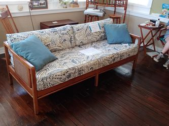 Walnut And Cane Sleeping Sofa for Sale in Eustis,  FL