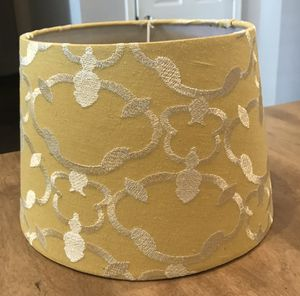 Yellow Embroidered Lamp Shade for Sale in Pendleton, IN