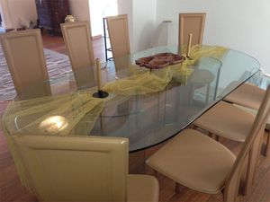 Gorgeous, large Crystal dining / meeting table from Italy L78xW39xH29,5 for Sale in Chandler, AZ
