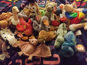 lot rare beanie babies errirs and tags in perfect condition for Sale in Port Richey, FL