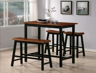 Taylor Brown/Black 4-Piece Counter Height Set for Sale in Riverdale Park,  MD