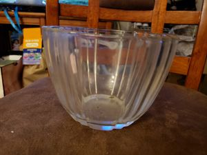 Vintage green glass candy dish with base for Sale in Stow, OH