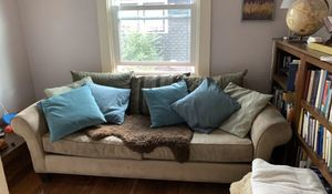 """Free used couch, we have cats and dogs. Not for pet allergic. Dimensions: L78"""" H30.5 W38 for Sale in Manitou Springs, CO"""