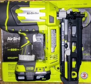 Ryobi 18-Volt ONE+ Lithium-Ion Cordless AirStrike 16-Gauge Cordless Straight Finish Nailer for Sale in Temple, GA