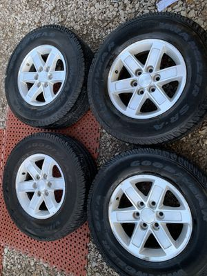 Gmc factory wheels and tires 17 inch for Sale in Mesquite, TX