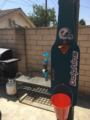 Miami Dolphins Flags, Miami Dolphins Beer bottle opener, Miami Dolphins Hats, Miami Dolphins Jerseys, Miami Dolphins Outdoor patio. for Sale in La Habra Heights, CA