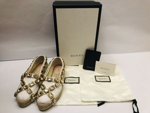 GUCCI Women's Spadrilles w/Crystal special edition SIZE 6.5 (Regular Price $789) for Sale in Miami, FL