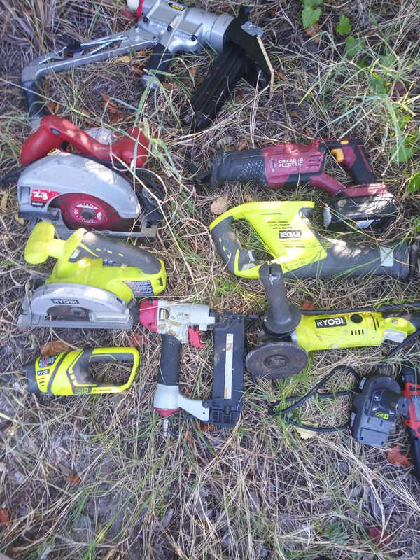 Variety of Name Brand Power Tools