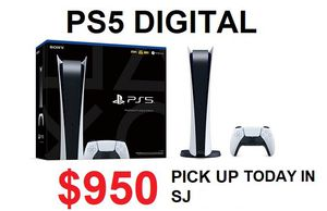 Playstation 5 PS5 digital for Sale in Milpitas, CA