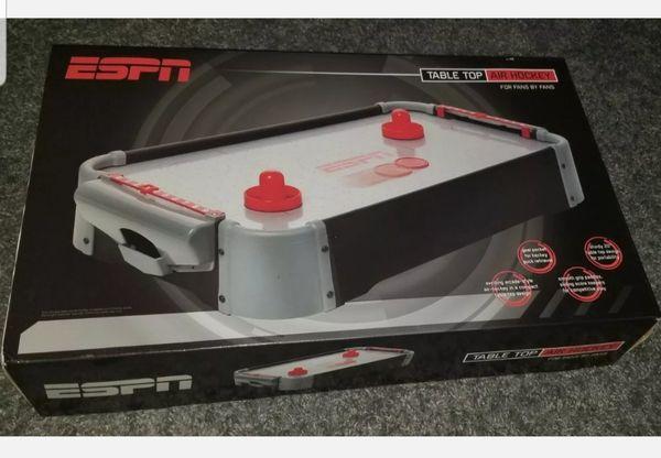 "ESPN Table Top Air Hockey Table Game 20"""