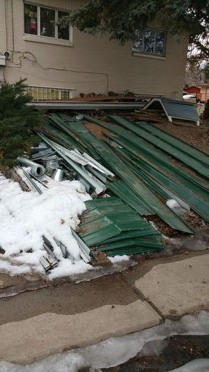 Assorted Metal Roofing Metal. Also Pool Heater And Filter for Sale in Englewood, CO