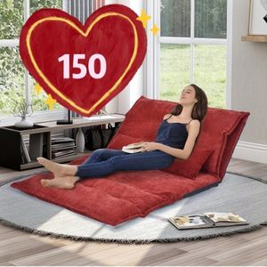 Brand new!Sofa Bed Adjustable Folding Futon Sofa Leisure Sofa Bed with Two Pillows(red color) for Sale in Hacienda Heights, CA