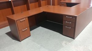 OFFICE/HOME DESK L-SHAPE SECRETARY LIKE NEW. for Sale in Houston, TX