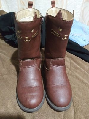 Toddler girl size 9 Carter's tall boots faux leather for Sale in Apple Valley, CA