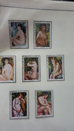 Guana nude painting stamps for Sale in Katy, TX