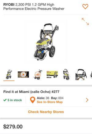 Ryobi electric pressure 2,300 psi for Sale in Miami, FL