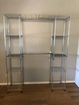 Metal clothing rack / Free standing close for Sale in Newark, CA