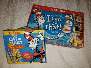 CAT in the HAT Game + Floor Puzzle for Sale in Long Beach, CA