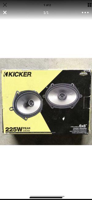 "NEW Kicker CS Series 43CSC684 6""X8"" 4-Ohm 75 Watt Rms Speakers for Sale in Irvine, CA"