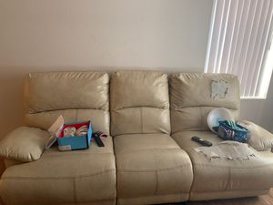 Free large heavy leather sofa and loveseat for Sale in Mesa, AZ