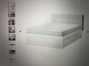 IKEA 'BRIMNES' (full) bed frame, drawers and shelves for Sale in Portland, OR