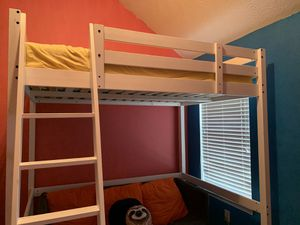 IKEA STORA White Loft Bed Frame for pickup (Mattress not included) for Sale, used for sale  McDonough, GA