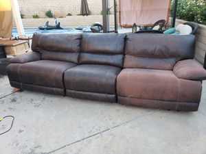 3 Piece Sectional Sofa With 3 Recliners for Sale in Alta Loma, CA