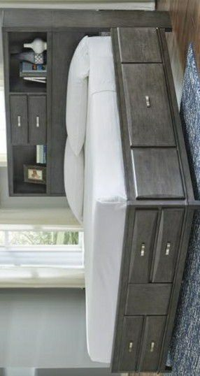 Caitbrook Gray King Bookcase Storage Bed for Sale in Houston, TX