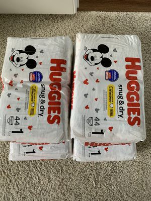 Brand new Huggies diapers size 1 for Sale in Lynnwood, WA