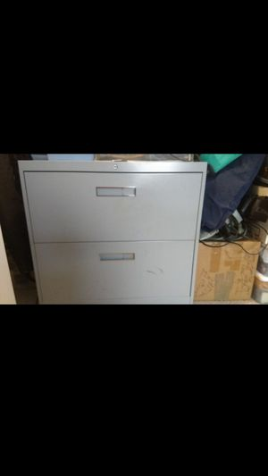 Lateral filing cabinet hanging files 2 drawer metal for Sale in Chicago, IL