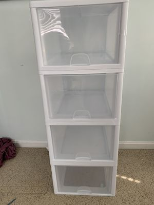 Plastic storage drawers for Sale in Pepperell, MA