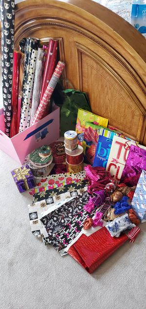 Huge Collection of gift bags. wrapping paper for Sale in Puyallup, WA