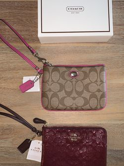 New Coach Wristlet Wallet - Choose from two for Sale in Fort Lauderdale,  FL